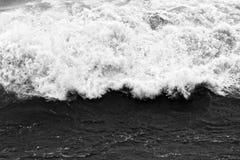 Dynamiczne czarny i biały fala Zdjęcie Stock