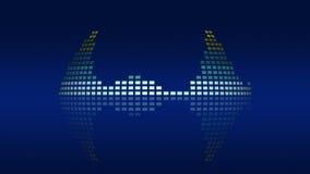 Dynamiczni atmosferycznej muzyki VU metry Bezszwowy sprawnie 4K royalty ilustracja