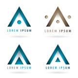 Dynamiczni firma logowie Obraz Stock