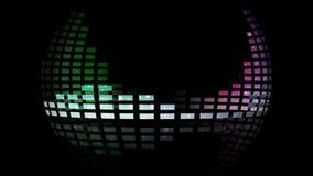 Dynamiczni muzyki VU metry dookoła świata Bezszwowy sprawnie ilustracja wektor