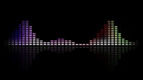 Dynamiczni muzyki VU metry i fala stubarwny Bezszwowy sprawnie 4K royalty ilustracja