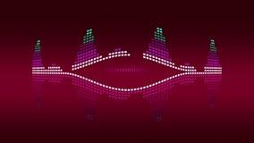 Dynamiczni muzyki VU metry rocznik red Bezszwowy sprawnie 4K royalty ilustracja