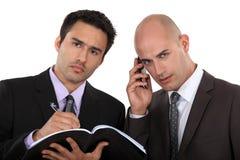 Dynamiczni partnery biznesowi obrazy royalty free
