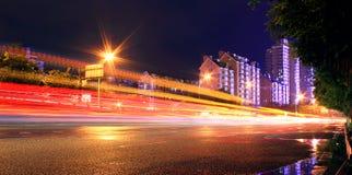 Dynamiczny światło przy nocą Obraz Stock