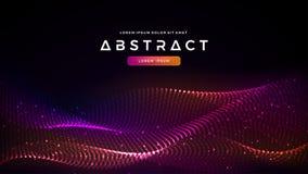 Dynamiczny abstrakcjonistyczny ciecza przepływu cząsteczek tło Olśniewający abstrakcjonistyczny cząsteczka przepływu tło Futuryst ilustracji