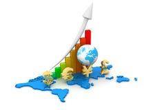 dynamiczny biznesowego makro wartości sprzedaży Zdjęcia Royalty Free
