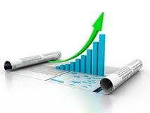 dynamiczny biznesowego makro wartości sprzedaży Zdjęcie Stock
