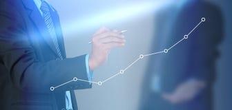 dynamiczny biznesowego makro wartości sprzedaży Obraz Stock
