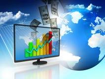 dynamiczny biznesowego makro wartości sprzedaży Fotografia Stock