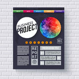 Dynamiczny biznesowy projekta projekta szablon Obrazy Royalty Free