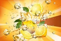 Dynamiczny chełbotanie sok ilustracja wektor