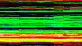 Dynamiczny glich wideo, zły tv sygnał kolorowy wyświetlacz, 3d odpłaca się komputer wytwarzającego tło royalty ilustracja