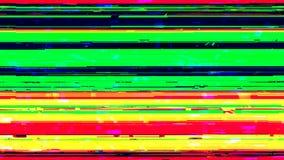 Dynamiczny glich wideo, zły tv sygnał kolorowy wyświetlacz, 3d odpłaca się komputer wytwarzającego tło ilustracji