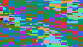 Dynamiczny jaskrawy glich wideo, zły tv sygnał kolorowy wyświetlacz, 3d odpłaca się komputer wytwarzającego tło royalty ilustracja