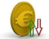Dynamik des EUROS stock abbildung