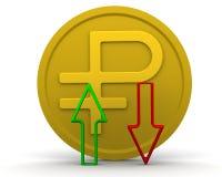 Dynamik des russischen Rubels lizenzfreie abbildung