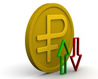 Dynamik des russischen Rubels stock abbildung