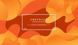 Dynamik maserte orange Hintergrund stock abbildung