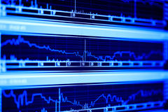 dynamika wskaźnika monitoru zapas Fotografia Stock