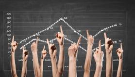Dynamique financière positive photo stock