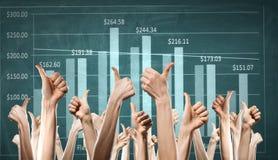 Dynamique financière positive image libre de droits