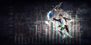 Dynamique positive du marché Image stock