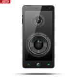 Dynamique saine de haut-parleurs de charge à l'intérieur d'un téléphone portable Photo stock