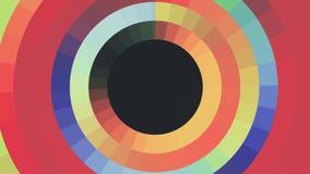 Dynamique universelle de mouvement d'arc-en-ciel de couleur de cercle de pixel de bloc de fond de boucle qualité sans couture mob illustration stock