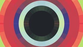 Dynamique universelle de mouvement d'arc-en-ciel de couleur de cercle de pixel de bloc de fond de boucle qualité sans couture mob illustration libre de droits