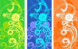 Dynamisch een abstract patroon in warm Stock Foto's