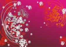 Dynamisch een abstract patroon in warm Royalty-vrije Stock Afbeelding