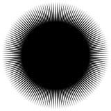 Dynamisch lijnenpatroon Grappige lijnen die van hoek uitspreiden Starbu vector illustratie