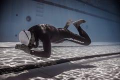 Dynamisch zonder Vinnen (DNF) Prestaties van Onderwater Stock Foto's