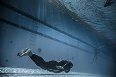 Dynamisch zonder Vinnen (DNF) Prestaties van Onderwater Royalty-vrije Stock Afbeelding