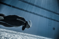 Dynamisch zonder Vinnen (DNF) Prestaties van Onderwater Royalty-vrije Stock Fotografie