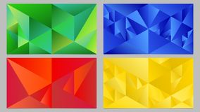 Dynamische abstracte geometrische de Desktop van de gradiëntdriehoek reeks als achtergrond stock illustratie