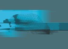 Dynamische Blauwe Digitale Achtergrond Stock Foto