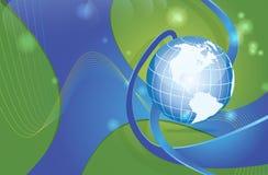 Dynamische de kaart van de wereld Stock Afbeelding
