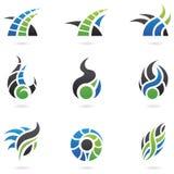 Dynamische Emblemen Stock Afbeeldingen