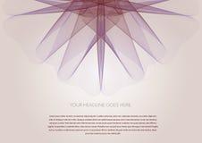 Dynamische grafische Blumen-Designschablone Stockfotografie