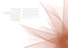 Dynamische grafische Blumen-Designschablone Stockbild