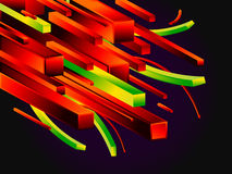 Dynamische kleurrijke achtergrond Royalty-vrije Stock Afbeeldingen