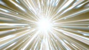 Dynamische lichte tunnel De heldere lijnen verwijderen zich snel van ons looped stock video