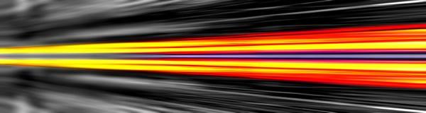 Dynamische lichtstralenbanner royalty-vrije stock afbeelding