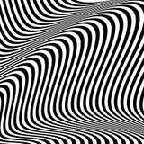 Dynamische Linien abstraktes Muster Vektorillustration mit großem c Lizenzfreies Stockbild
