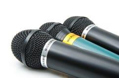 Dynamische microfoons stock afbeeldingen