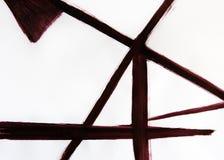 Dynamische Verbindung von dünnen Linien in einem Perspektivenentwurf Abstrakte Landschaft mit einem Brunnen stockbilder
