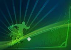 Dynamische voetbalachtergrond Stock Fotografie