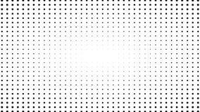 Dynamische zwart-witte samenstelling Halftone Element stock video