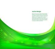Dynamischer grüner Hintergrund lizenzfreie abbildung